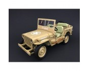 JEEP WILLYS US ARMY DESIERTO ESCALA 1:18