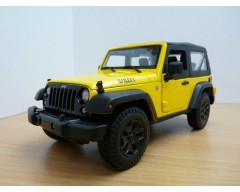 JEEP WRANGLER 2014 AMARILLO ESCALA 1:18