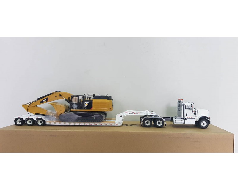 CAMION CAMA INTERNATIONAL HX520 CON EXCAVADORA CAT 349F L ESCALA 1:50