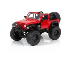 JEEP WRANGLER ROJO OFF-ROAD ESCALA 1:24